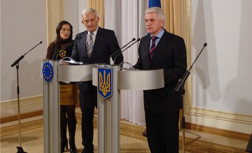Фотозвіт з зустрічи спікера Верхоної Ради України Володимира Литвина та Президента Європейського Парламенту Єжи Бузека