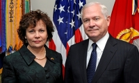 April 30, 2010. Gates Meets With Lithuanian Defense Minister